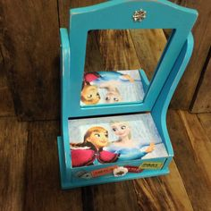 Frozen fever dresser mirror with storage by CestChicDesigns