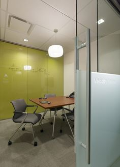 Small huddle space with writable surface
