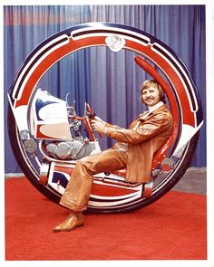 Jumpin Joe Gerlach 's monowheel. Created to try interest promoters into booking Gerlach as part of their events. Joe Gerlach was (in)famo. Monocycle, Stunt Bike, Pedal Cars, Science Fiction Art, Go Kart, Dieselpunk, Inventions, Cool Cars, Transportation