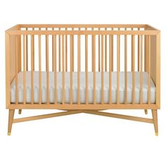 Last Day! 20% off all Nursery Furniture. Ends 6/25/13 at midnight ET - MID-CENTURY CRIB - NATURAL