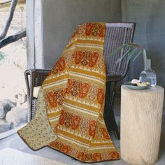 Greenland Home Fashions Taj Quilted Throw - GL-THROWTJ