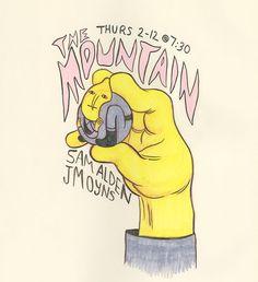 The Mountain promo art by Jesse Moynihan