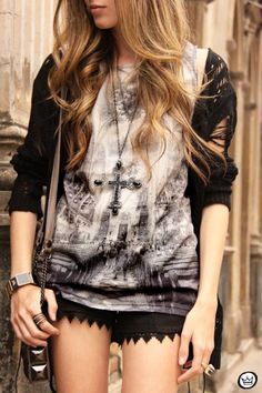 Look du jour: time to time by fashion coolture. Punk Fashion, Grunge Fashion, Party Fashion, Fashion Outfits, Womens Fashion, Grunge Men, Glam Rock, Cool Outfits, Casual Outfits