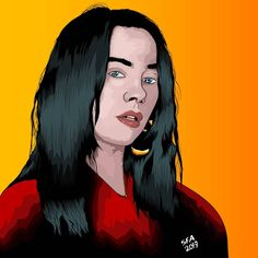 i drew @billieeilish today, i were to do the sweater too... but it was a bit much details at that point.  #billieeilish #billieeilishart #music #youtube #speedart #speeddraw #speedpaint #digitalart #art #wacom #huion #adobe #adobeillustrator #hair #colors #portrait #cartoon #comic #dyedhair #artwork #spotify #ep #album #whenweallfallasleepwheredowego