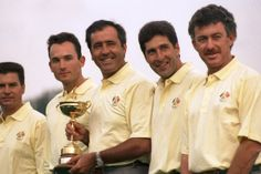 Seve's joy on home soil. Europe's team for the 1997 Ryder Cup drew on talent from across the continent. Captain Seve Ballesteros commanded players from Sweden, Italy, Denmark, Spain, Germany and the UK. The match was played at Valderamma in Ballesteros's native Spain. Colin Montgomerie dominated European Tour golf in the 1990s. And the continent's top player secured the crucial half point in the last singles match left on the course to seal a nail-biting 14 ½ - 13 ½ –victory. #RyderCup