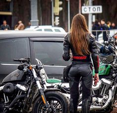 Hot women in motorcycle leathers. Now accepting submissions! Scooter Motorcycle, Motorbike Girl, Motorcycle Leather, Motorcycle Outfit, Motorcycle Girls, Lady Biker, Biker Girl, Ducati Monster, Cafe Racer Honda