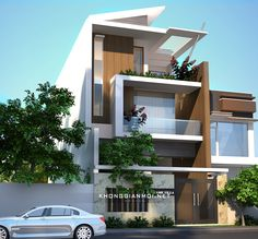 House looks luxurious using only two floors Duplex House Plans, Apartment Floor Plans, Bungalow House Design, House Front Design, Modern House Design, Best Small House Designs, Narrow Lot House Plans, Sims House Plans, House Elevation