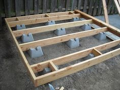 Dog Run - Doggie Deck Foundation and Frame | This design cam… | Flickr
