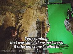 BTS on Desolation of Smaug.  Click through for GIF set, it's worth it.