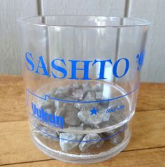 Vulcan Materials Sashto 1990 Nashville TN Advertising Gravel Bottom Drink Cup #VulcanMaterials