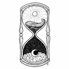 Drawings Ideas Hourglass Tattoo - the meaning of this Vanitas symbol Kunst Tattoos, Tattoo Drawings, Body Art Tattoos, Tatoos, Art Drawings, Drawing Art, Drawing Ideas, Crazy Drawings, Drawing Designs