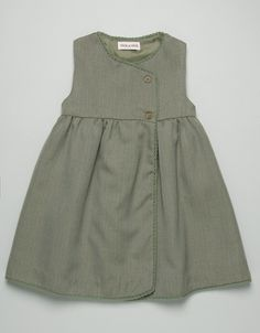 Lovely pinafore for girls | PICHI FRANELA MARRON