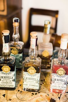 Italian liqueurs as wedding favors... YES! | The House of Beccaria