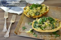 Chicken Florentine Spaghetti Squash (Paleo) Stupid Easy Paleo - Easy Paleo Recipes