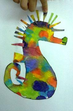 eric carle  mister seahorse art activity