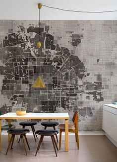 No Plan wallpaper - Wall&Deco via Atticmag