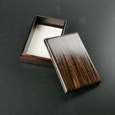 TUCHIKURA/黒檀名刺入れ 9450yen 伝統工芸士の作、黒檀の名刺入れ