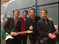 Keith Howland, Walfredo Reyes, Jr., Lou Pardini and Jason Scheff of #CHICAGOtheBand