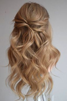 Prom Hair Ideas 2019 - 37 beautiful half up half down hairstyles_twisted hair 3 - Best Wedding Hairstyles, Formal Hairstyles, Bride Hairstyles, Popular Hairstyles, Hairstyles For Weddings Bridesmaid, Pretty Hairstyles, Easy Hairstyles, Hairstyles Videos, Wedding Hair And Makeup