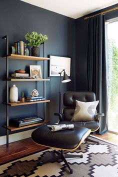 Wondrous Blue Gray Home Office If You Need Me Dark Gray Home Office Matt Gray Home Office. Gray Home Office. Grey Paint Home Office. Dark Gray Home Office. Gray Home Office Furniture. Office Interior Design, Home Office Decor, Office Designs, Masculine Office Decor, Masculine Home Offices, Man Home Decor, Masculine Room, Modern Office Decor, Modern Offices