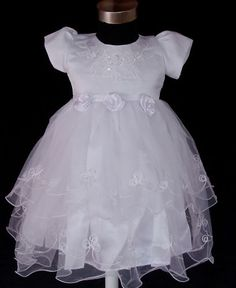 New Christening Party Flower Gril Dress 0-3 to 12-18 Months | eBay