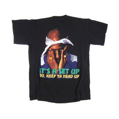 6e986319de23b8 Vintage Tupac Keep Ya Head Up T-Shirt ( 150) ❤ liked on Polyvore featuring  tops