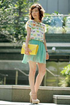 Minty Butterflies   Women's Look   ASOS Fashion Finder
