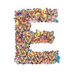 Buchstabe - Letter E Monogram, Butterfly, Heaven, Jewelry, Butterflies, Letters, Sky, Jewlery, Jewerly