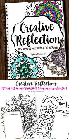 Creative Reflection, 365 days to journal & feed your inner artist with nearly 400 pages in this adult coloring book full of beautiful mandalas.