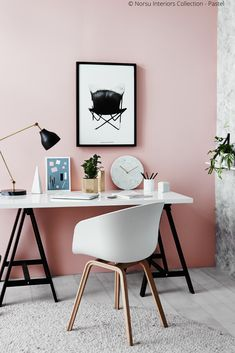 35 Trendy home office modern gold accents Cozy Home Office, Home Office Design, Toile Design, Home Office Inspiration, Office Ideas, Couleur Rose Pastel, Red Wall Art, Red Walls, Trendy Home