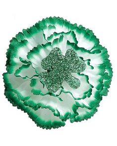 St. Patrick's Day Glitter Carnation Boutonniere | Wholesale St. Patrick's Day Costumes