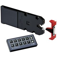 Includes one receiver latch and a keyless entry system that operates an unlimited number of receiver latches for custom security