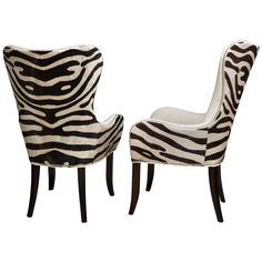 Pair of Cowhide Stenciled Zebra Arm Chairs Dinning Chairs, Dining Arm Chair, Dining Room, Furniture Makeover, Cool Furniture, Zebra Pictures, Patchwork Chair, Baroque Furniture, Living Room Decor Traditional