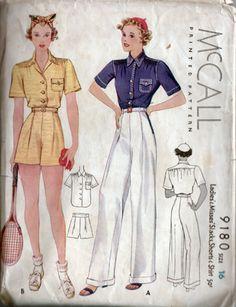1937 sportswear! great silhouette
