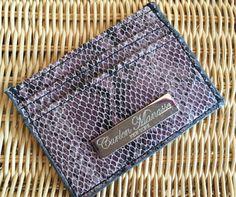 Purple Snake Skin Embossed Leather Slim by CarlenManasseNY on Etsy