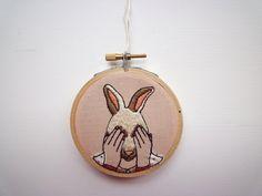 Modern Embroidery 'Bunny Girl' 3inch Hoop by CheeseBeforeBedtime