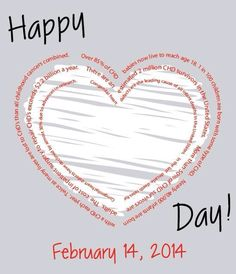 Congenital Heart Defect (CHD) Awareness Week February 7-14, 2014..  Please show your support for all children and adults effected by a Congenital Heart Defect. February is typically a celebrated month of love with flowers, chocolates, and paper valentine hearts. In another community, love and hearts are celebrated and remembered differently. That community is one affected by the #1 birth defect in the United States, congenital heart defects.