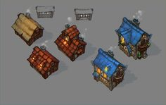 ArtStation - houses for untitled project, Evgeniy Karanov
