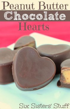 Peanut Butter Chocolate Hearts .