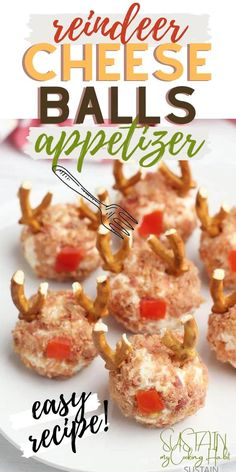 Looking for an easy and fun Christmas appetizer idea? These make-ahead reindeer cheese balls make the perfect finger foods for your holiday party.