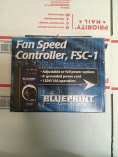 Sunleaves/Blueprint Fan Speed Controller for Centrifugal Duct Fans #Notspecified