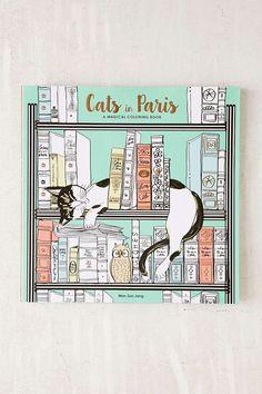 Cats In Paris: A Magical Coloring Book By Won-Sun Jang