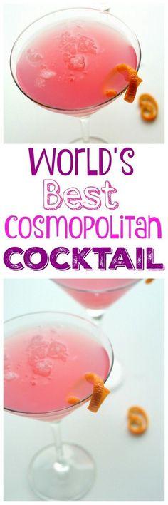 World's Best Cosmopolitan Cocktail #World's #Best #Cosmopolitan #Cocktail #recipe #cocktails #cheers #party #cocktailrecipes