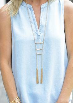 Leads Necklace, ladder necklace, tassel necklace