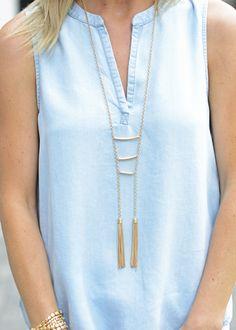 Leads Necklace, ladder necklace, tassel necklace