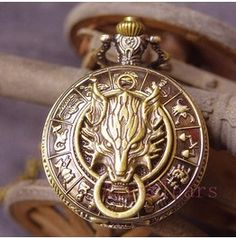 Cloud Wolf-Retro 12 Constellation Zodiac Pocket Watch