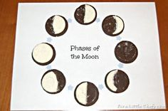 The Tasty Phases of the Moon craft is the perfect party activity for kids.