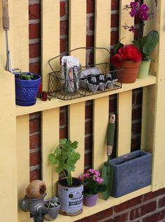 DIY Pallet Garden Storage Etsy