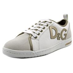 DOLCE & GABBANA D&G Mestis Women Round Toe Leather White Sneakers. #dolcegabbana #shoes #shoes