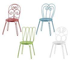 Chair   Cadeira de ferro colorida